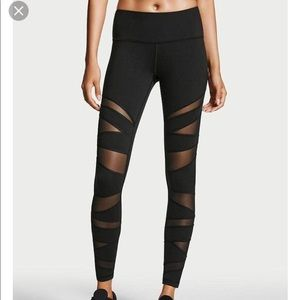 Victoria Secret Sport black mesh knockout tight